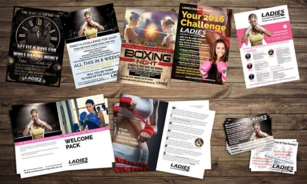 Print Package For Ladies Charity Boxing
