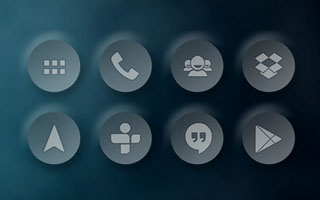 Circular Semi Transparent Icons