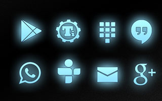 Light Blue Glow Icons