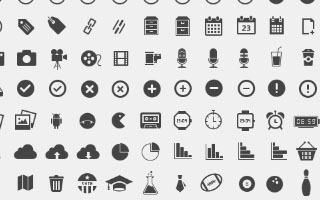 Pixel Perfect Mono Icons