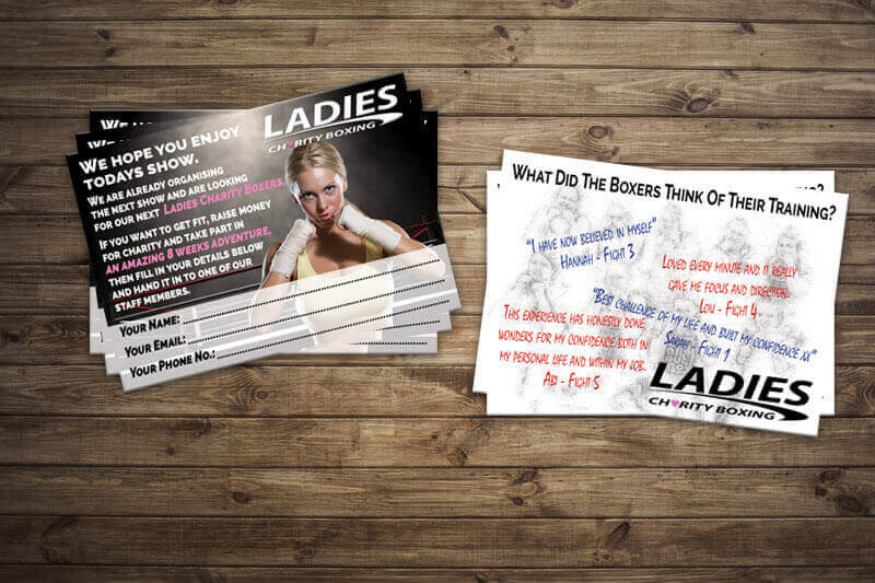 Ladies Charity Boxing Cards