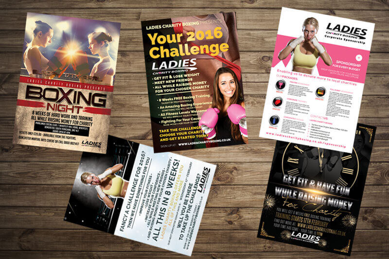 Ladies Charity Boxing Five Leaflets